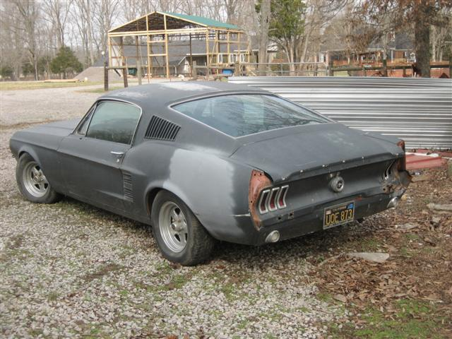 67 mustang project car for sale