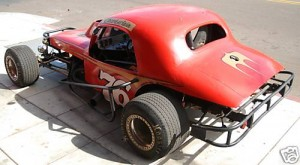 Vintage dirt track race car 36 coupe